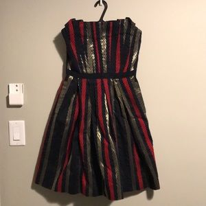 Marc by Marc Jacobs striped strapless party dress